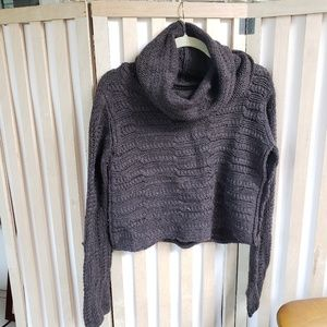 Alice and Olivia cropped cowl neck sweater